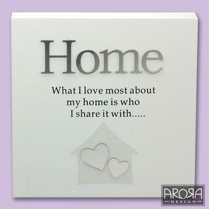 Art of Arora Home Sentiment Wall Art