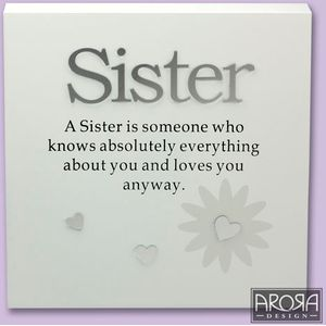 SISTER Sentiment Wall Art Plaque