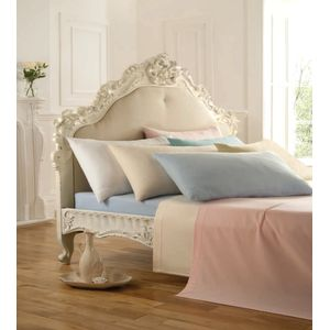 Percale Single Bed Fitted Sheet - Cream