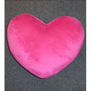 Catherine Lansfield Love Heart Cushion 30cm x 40cm - Bright Pink