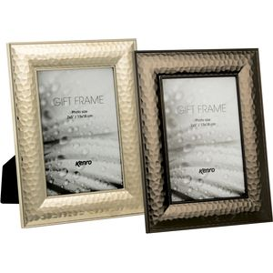 "Hammered Silver Metal Frame 7x5"""