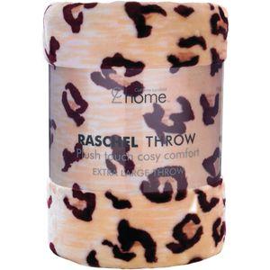 Catherine Lansfield Cheetah Raschel Throw 150x200cm.