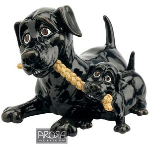 Pets with Personality Labrador & Pup Figurine