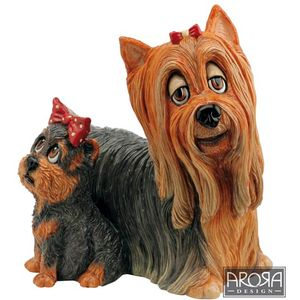 Pets with Personality Yorkie & Pup Figurine