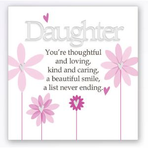 Art of Arora Sentiment Wall Art - Daughter