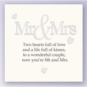 Art of Arora Sentiment Wall Art - Mr & Mrs