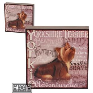 My Pedigree Pals Yorkie Dog Wall Art