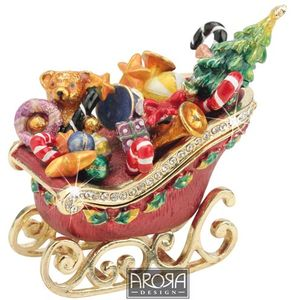 Craycombe Trinkets Sleigh with Presents Trinket Box