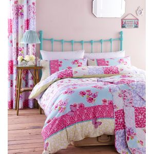 Catherine Lansfield Gypsy Patchwork King size Quilt/C