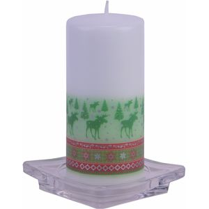 Christmas Pillar Candle - Nordic