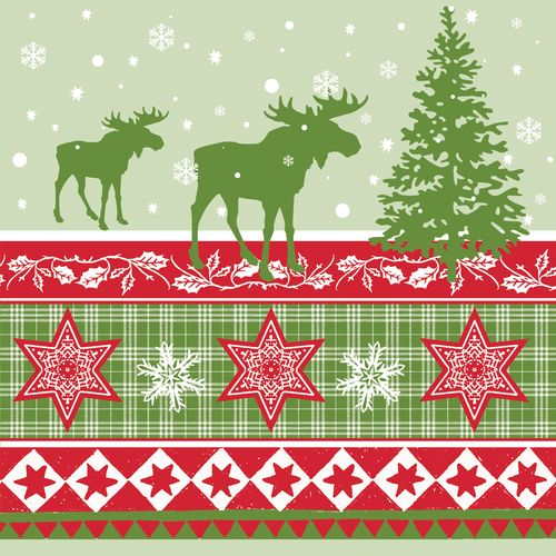 Nordic Christmas Pack of 20 three ply Printed Serviette