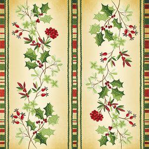 Christmas Tableware - Napkins Festive Holly Design Pack of 20