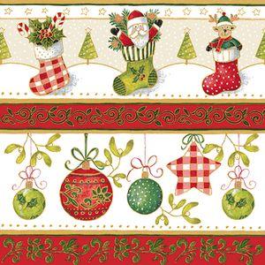 Christmas Tableware - Napkins Festive Delight Design Pack of 20