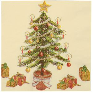 Merry Christmas Pack of 20 three ply Printed Serviette