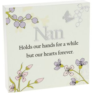 Nan Floral design Wall Art Plaque