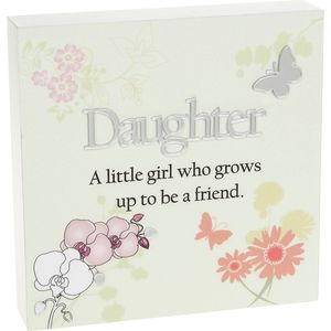 Floral Design Wall Art Plaque - Daughter