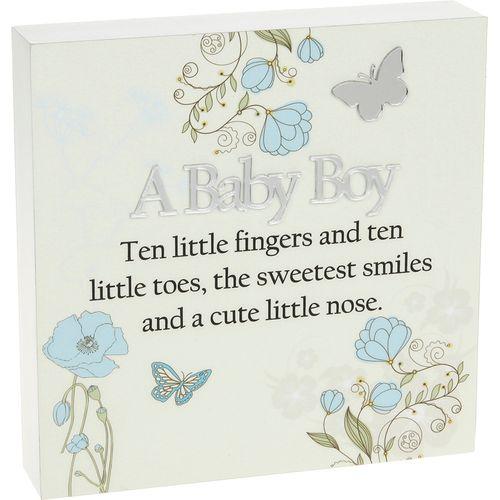 A Baby Boy Wall Art Plaque
