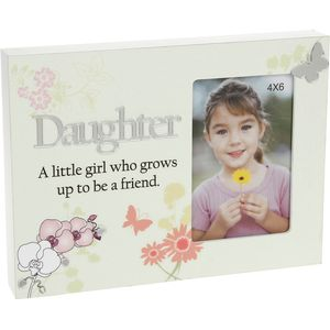 "Reflections Floral Photo Frame 4x6"" - Daughter"