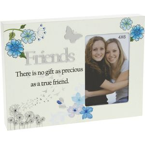 "Reflections Floral Photo Frame 4"" x 6"" - Friends"