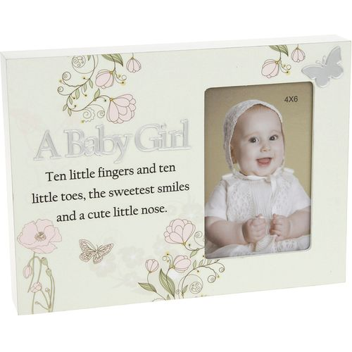 A Baby Girl Floral Reflections Photo Frame