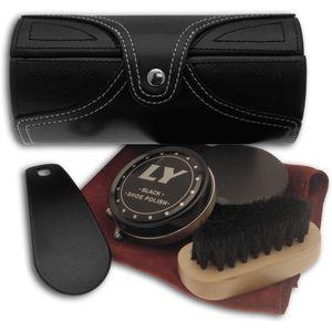 Shoe Cleaning Kit in Black Barrel Case