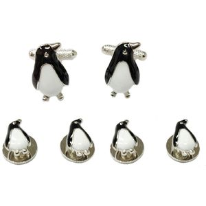 Penguin Cufflinks & Dress Shirt Studs Gift Set