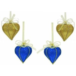 Weiste Christmas Tree Decorations Set of 4 - Blue & Gold Slavic Elegance Bauble