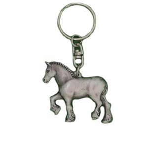 English Pewter Shire Horse Keyring