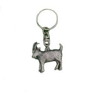 English Pewter Goat Keyring
