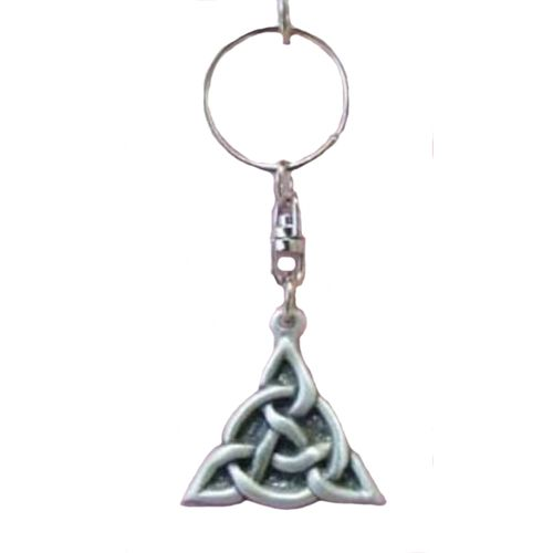 English Pewter Celtic Triangle Keyring