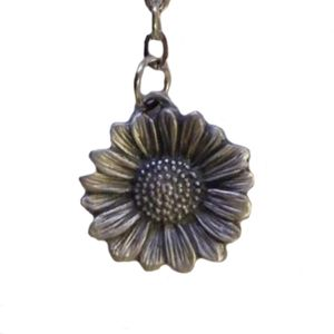 Sunflower Head English Pewter Keyring