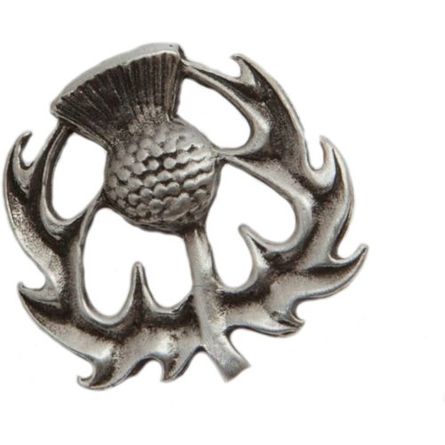 English Pewter Thistle Lapel or Tie Pin