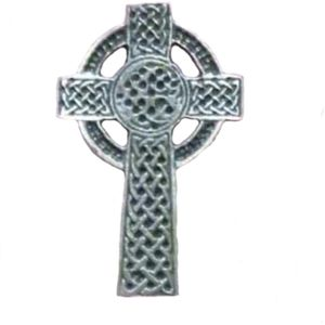 English Pewter Celtic Cross Tie Pin or Lapel Badge