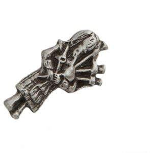 English Pewter Scottish Piper Tie Pin or Lapel Badge