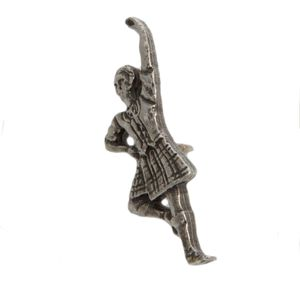 English Pewter Scottish Dancer Lapel Badge or Tie Pin