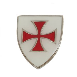 Enamelled Knights Templar Brooch