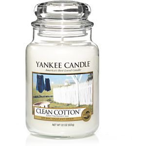 Yankee Candle Large Jar Clean Cotton Scent