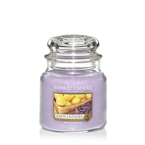 Yankee Candle Medium Jar Lemon Lavender Scent