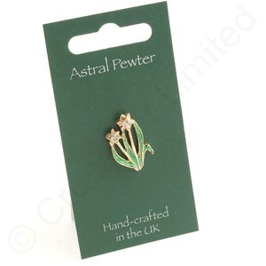 Astral Pewter Welsh Daffodil Tie Pin or Lapel Badge
