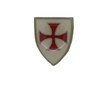 Enamelled Knights Templar Shield Lapel or Tie Pin