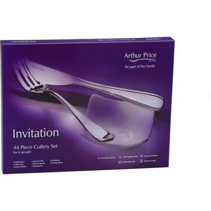 Arthur Price Kitchen Invitation 44 Piece Boxed Cutlery Set