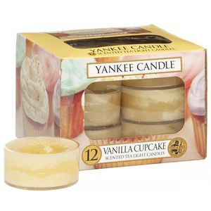 Yankee Candle Tea Lights 12 Pack - Vanilla Cupcake