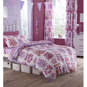 Catherine Lansfield Kids - Owls design Single Bed Set