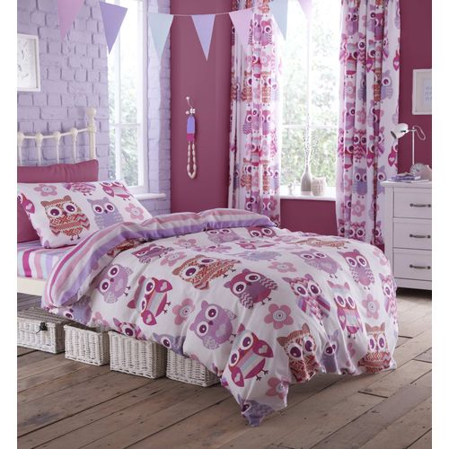 Catherine Lansfield Kids Single Bed Quilt Cover Set - Owls