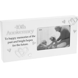 "Reflections Photo Frame 6"" x 4""- 40th Anniversary"