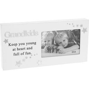 "Reflections Block Photo Frame 6"" x 4"" - Grandkids"