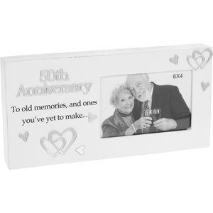 "Reflections Photo Frame 6"" x 4"" - 50th Anniversary"