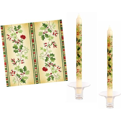 Festive Holly Pack of 20 three ply Printed Serviette