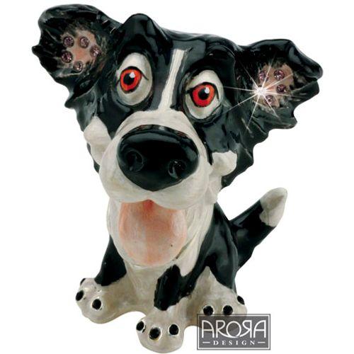 Arora Design Little Paws Border Collie Dog Jewellery Trinket Box
