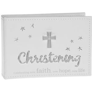 "Christening Photo Album Holds 24 6"" x 4"" Prints"